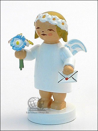 goodwill angel with bouquet and letter