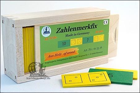 Zahlenmerkfix, 42 Teile