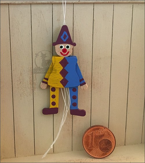 jumping jack, movable, purple-blue / 4 cm