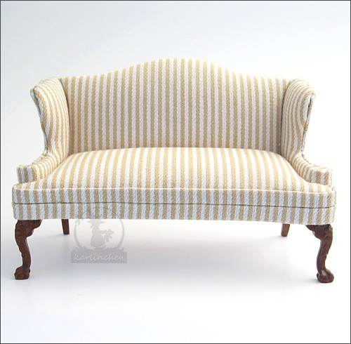 sofa, beige-striped