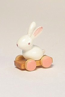 Bunny on a wheel board