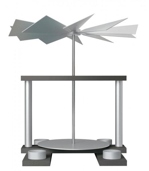 Pyramide LUMA, achatsilber-aluminium