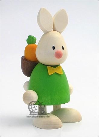 Kaninchen Max mit Rucksack & Möhre