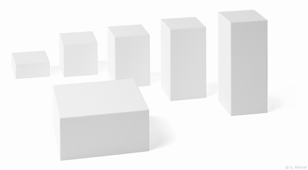 Decorative cubes, white / 6 pieces