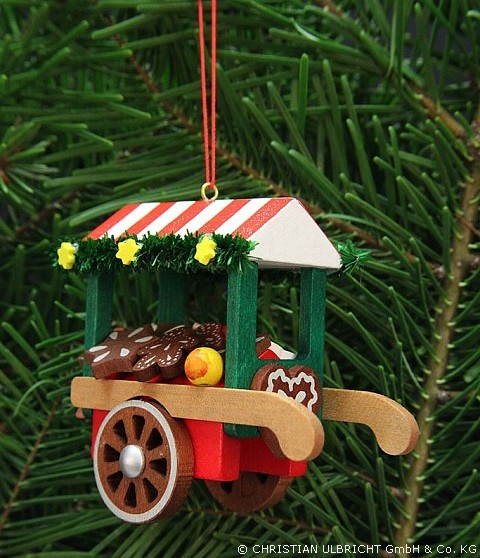 Marktwagen mit Lebkuchen - Baumbehang