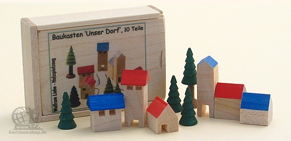 "wooden model kit ""our village"""