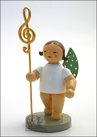 Musikus - angel with gold-plated clef / Gold Edition No 2