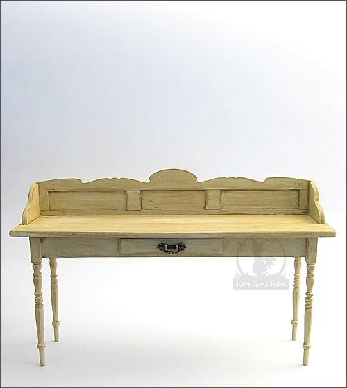 Wandtisch, shabby/beige