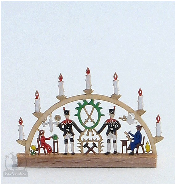 miniatur - candle arch, colored / 2,6 cm