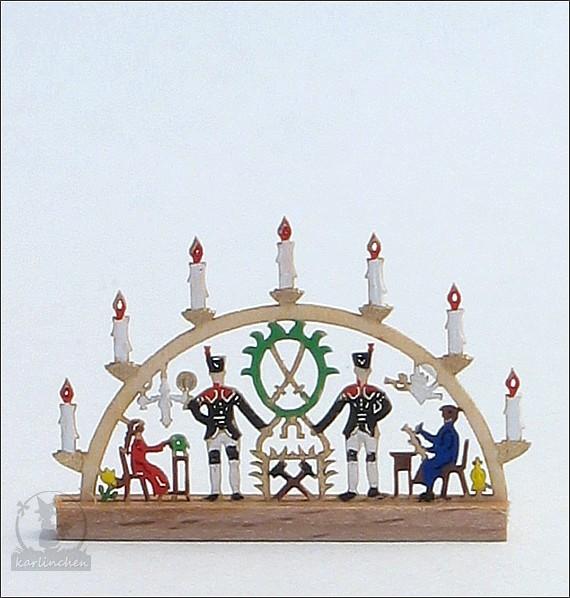 Miniatur - Schwibbogen, bunt / 2,6 cm