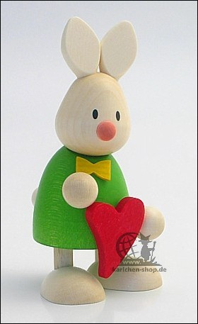 Kaninchen Max mit Herz
