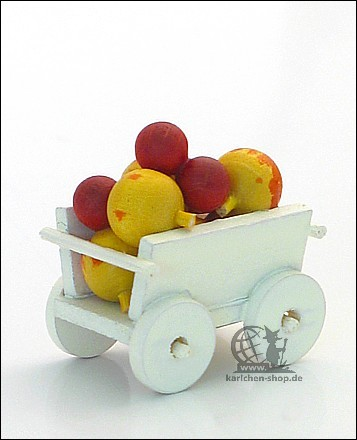 hand cart with apples