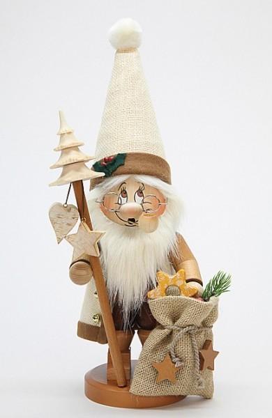 Weihnachtsmann mit Stab Wichtel - Räuchermann