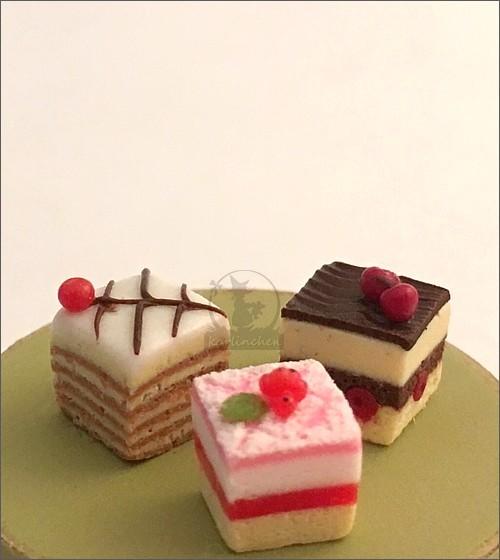 Kuchenschnitten / 3 Stück