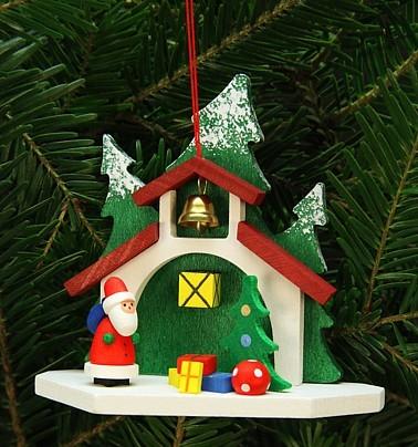 Waldkapelle mit Nikolaus - Baumbehang