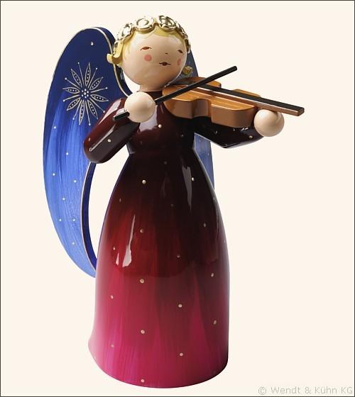 Engel mit Violine, rot / 17 cm