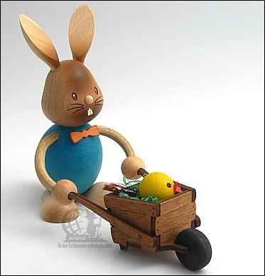 Bunny Stupsi with wheelbarrow