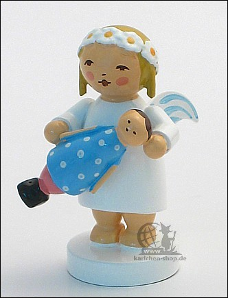 marguerite angel with doll
