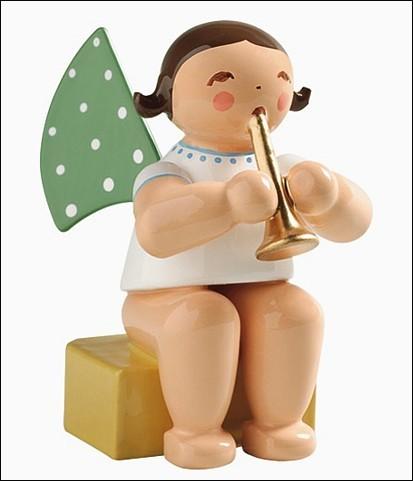 Engel klein mit Flöte