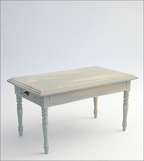 Table with 2 drawers, shabby/gray
