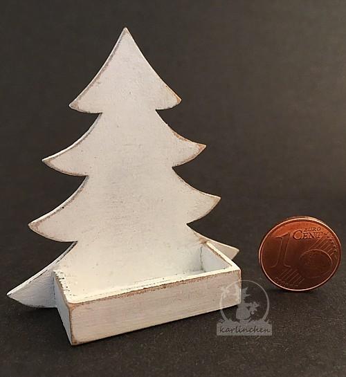 box christmas tree, white