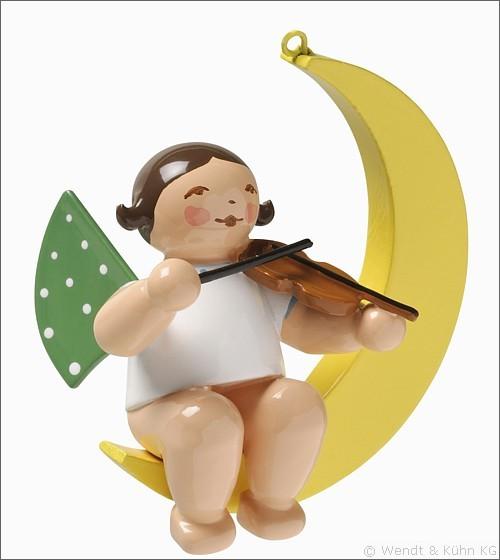 Engel mit Geige im Mond / klein