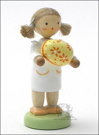 Mädchen mit Osterei, gelb / leider vergriffen