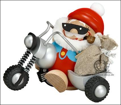 Nikolaus auf Motorrad - Räuchermann
