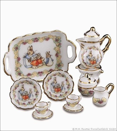 coffee set / theme Beatrix Potter