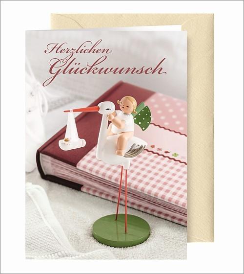 "Greeting Card ""Geburt Maedchen"""