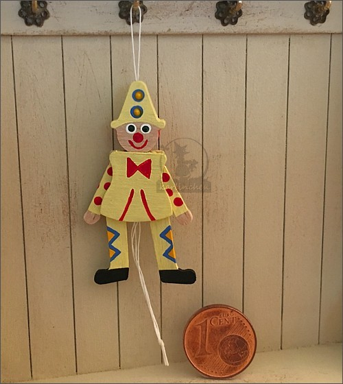 jumping jack, movable, yellow / 4cm