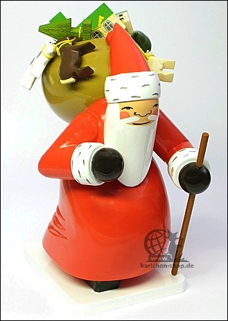 large santa claus with toys