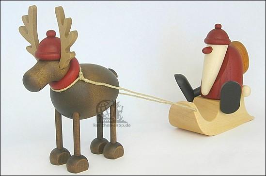 Rentier Rudolf mit Schlitten