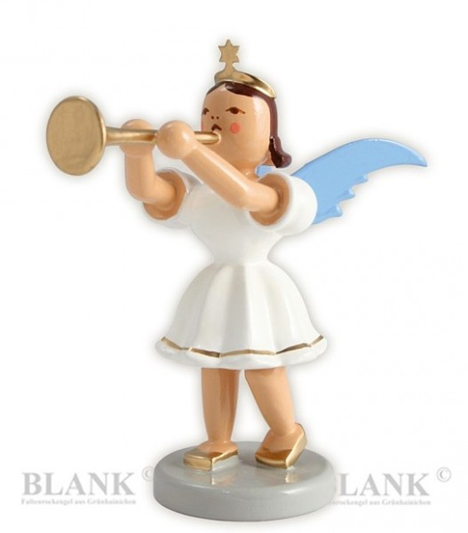 Angel with Trombone, coloured