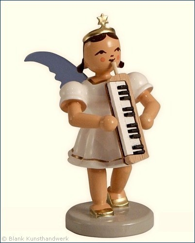 Angel with Melodica, coloured