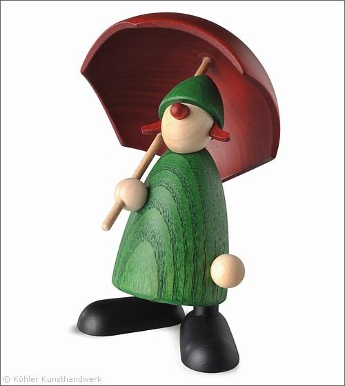 Louise mit Schirm
