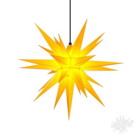 Herrnhuter® Stern Kunststoff für innen und aussen / gelb