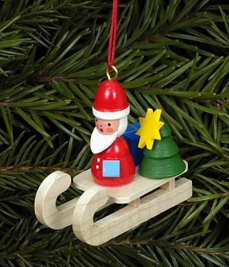 Nikolaus auf Schlitten - Baumbehang