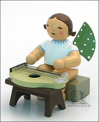 angel with zither, sitting