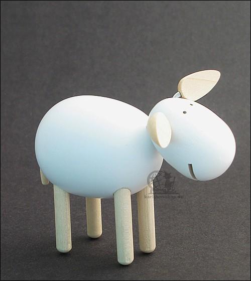 Schaf lachend, weiss