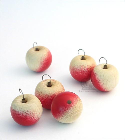 Holzäpfel / 6 Stück
