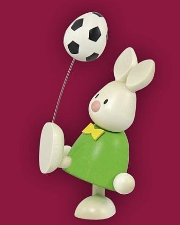 Kaninchen Max mit Fussball