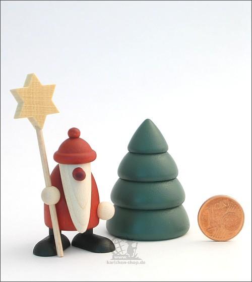 Weihnachtsmann mit Stern und Baum - Miniaturset 5