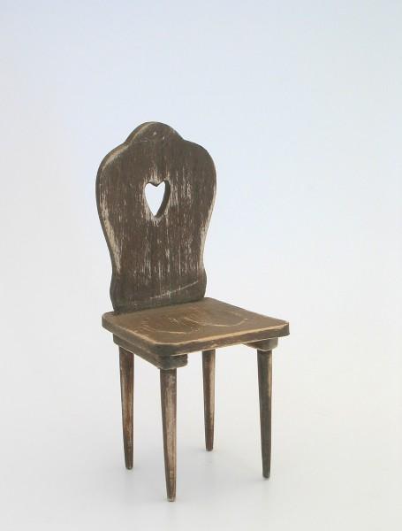 Chair, shabby/brown