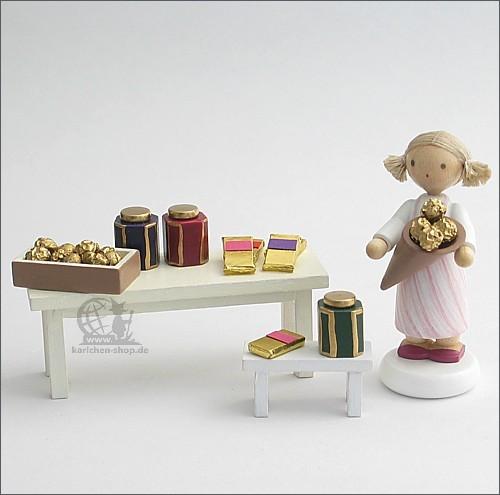 Schokoladenverkäuferin / 3-teilig