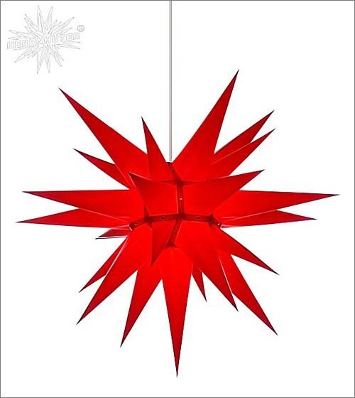 Herrnhuter® Papierstern für innen / rot