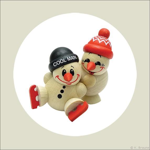 COOL MAN Fritz & Freddy beim Eislauf