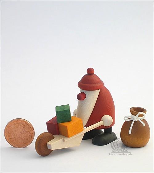 Weihnachtsmann mit Schubkarre und Sack - Miniaturset 3