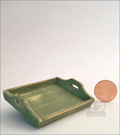 tray, shabby/green