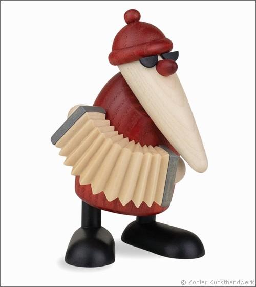 Köhler Weihnachtsmann mit Akkordeon